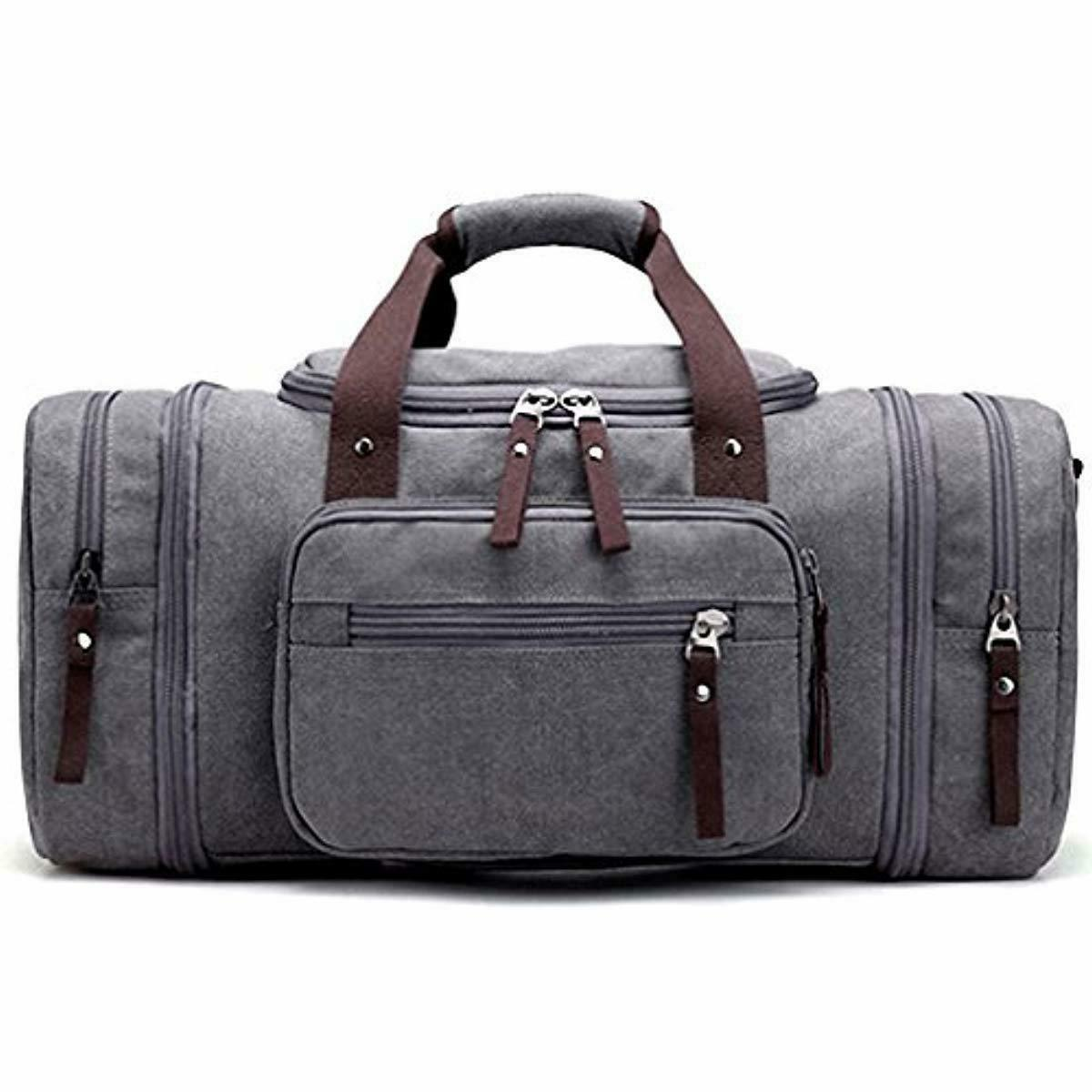 new oversized canvas travel tote luggage weekend