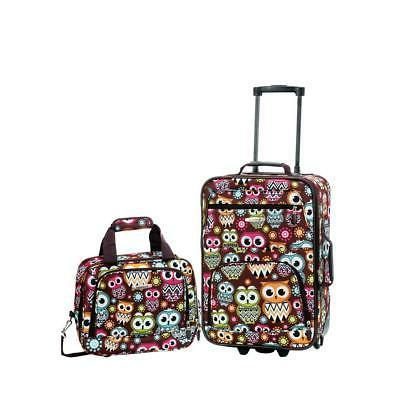 owl luggage set