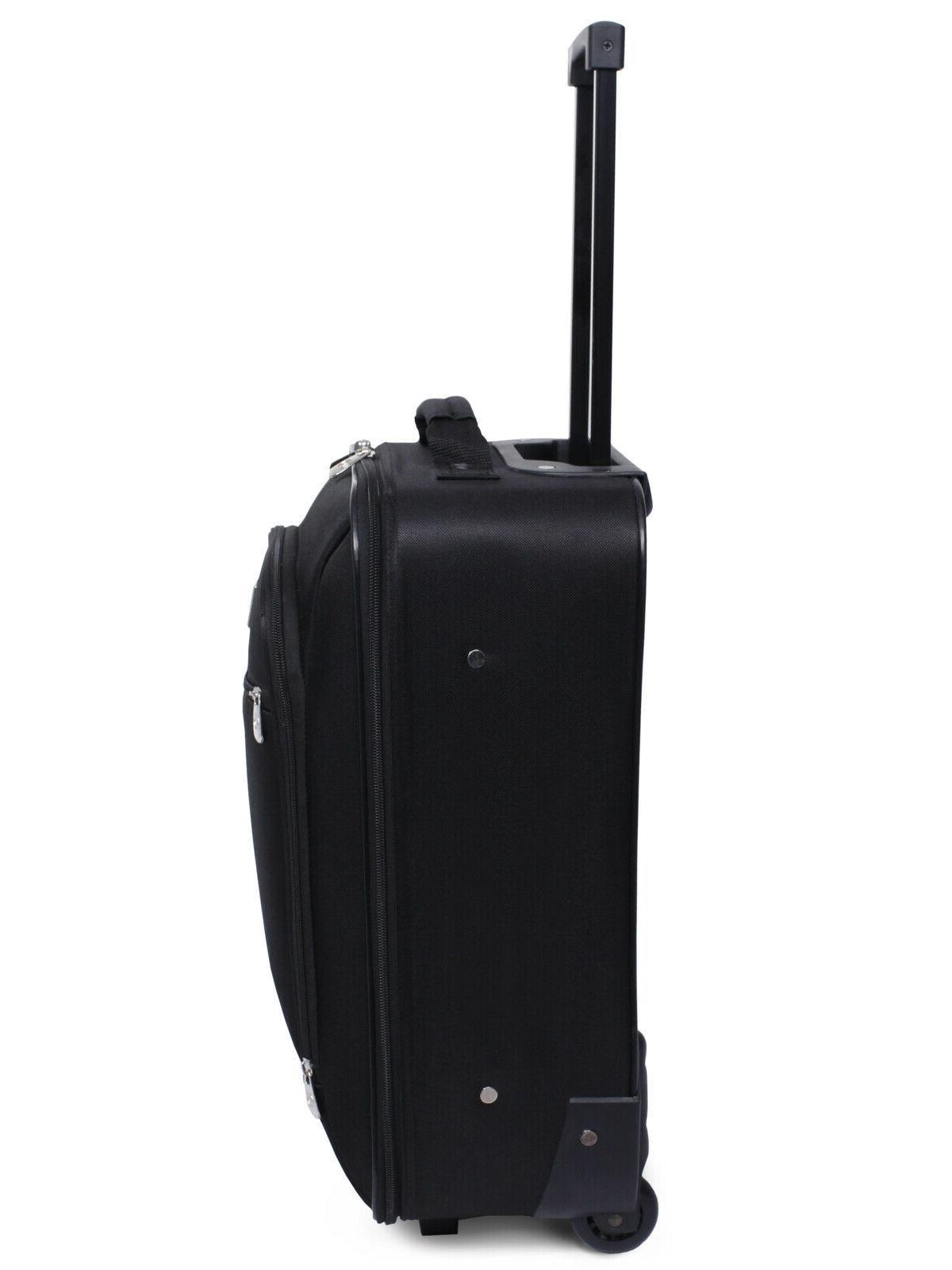 Pilot Upright Handle Luggage Travel Bag Black 18-Inch