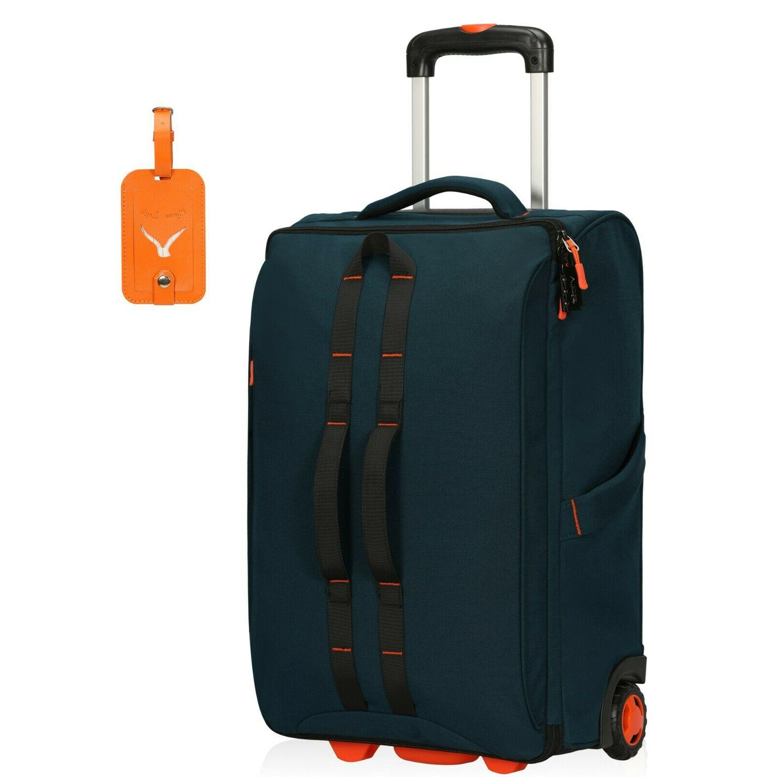 Hynes Eagle Rolling Luggage Softside Travel Gear