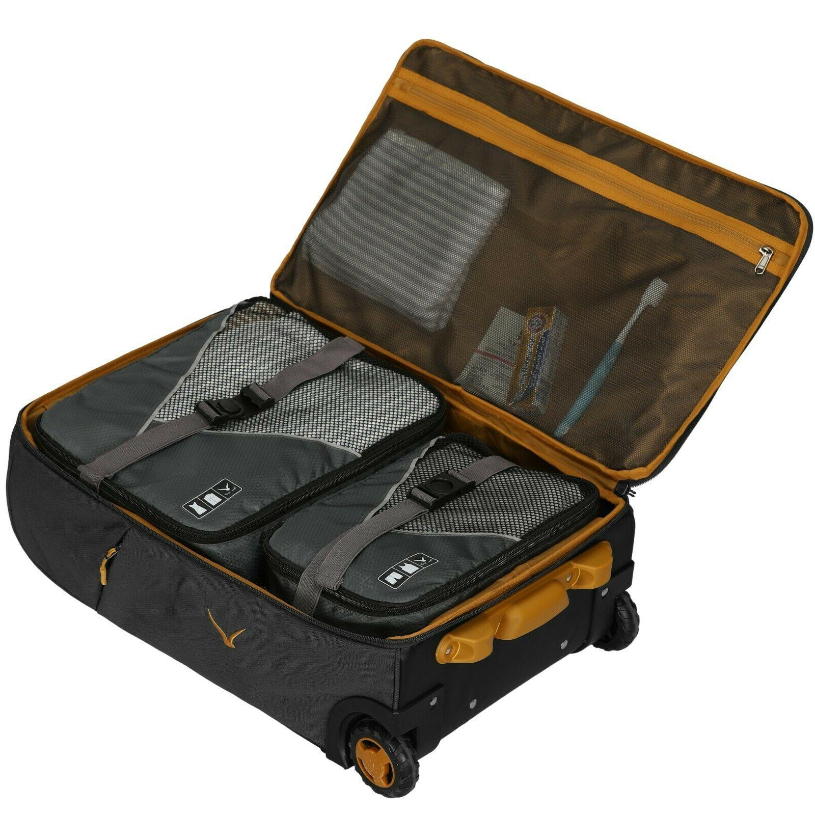 Hynes Eagle Rolling Luggage Softside Travel