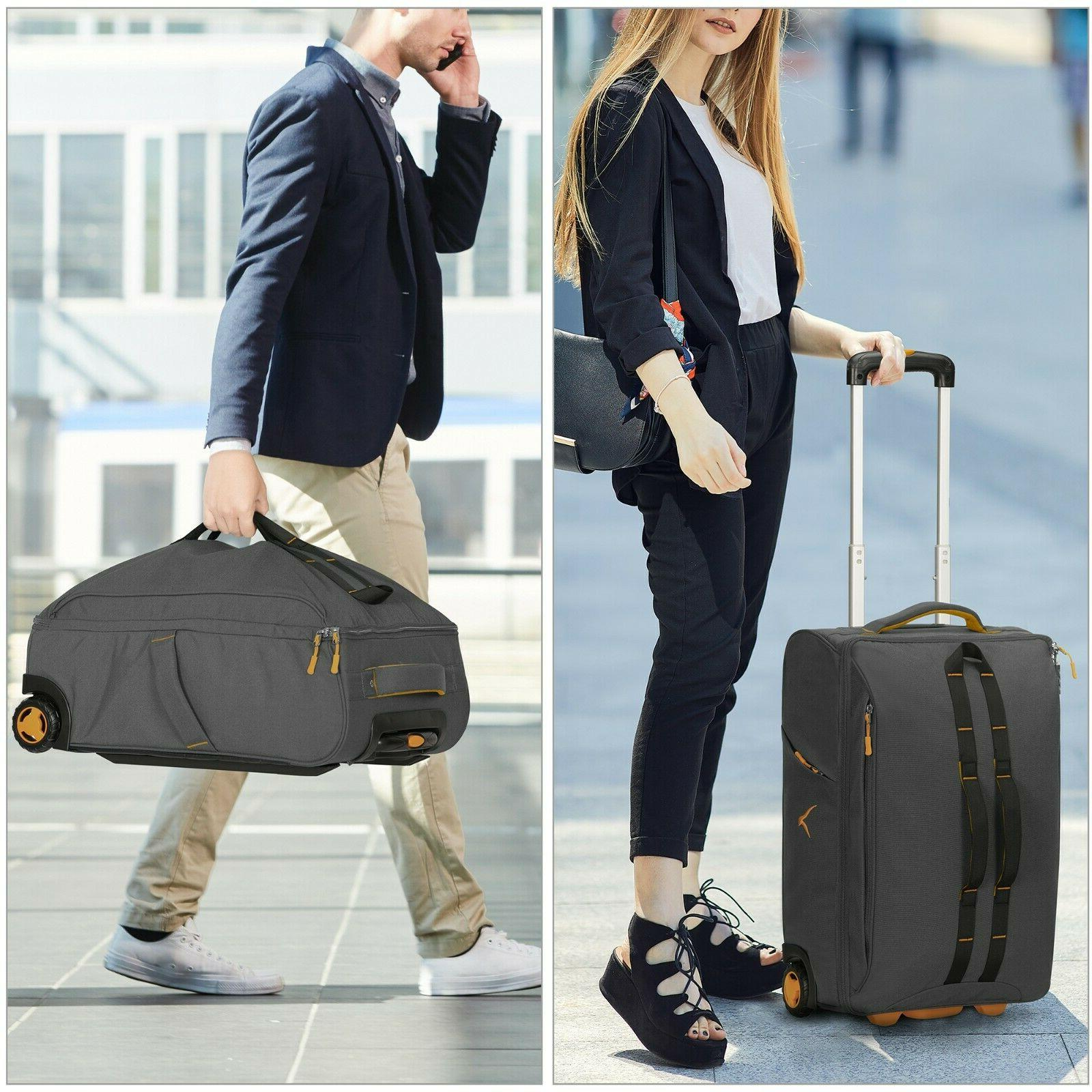Hynes Rolling Luggage Softside Travel Gear