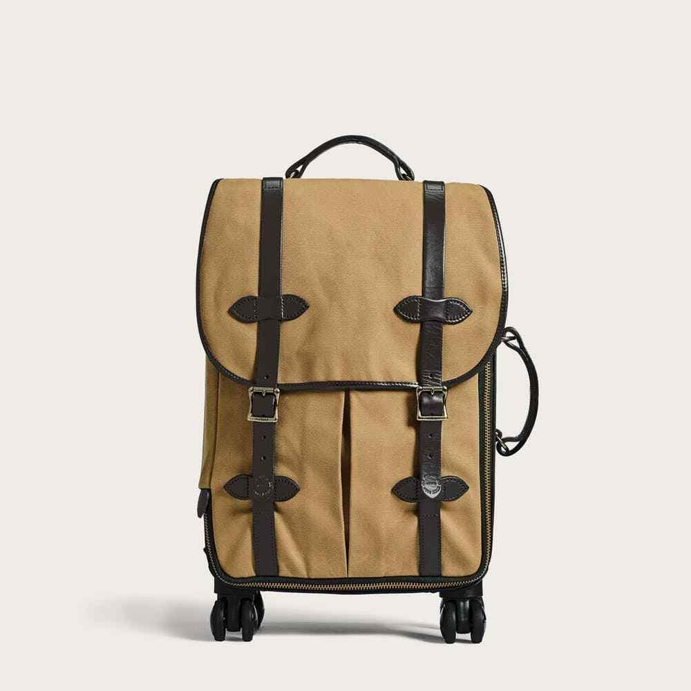 rugged twill rolling 4 wheel carry on