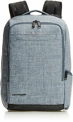 AmazonBasics Slim Carry On Travel Backpack Overnight Denim