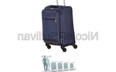 softside carry on spinner luggage suitcase 18