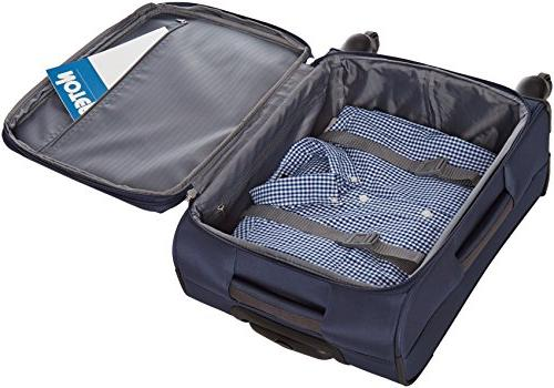 AmazonBasics Softside Spinner - Carry-on/Cabin Navy Blue