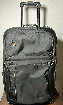 "TUMI T-Tech Black Traveler Luggage 22"" Upright Carry-On garm"