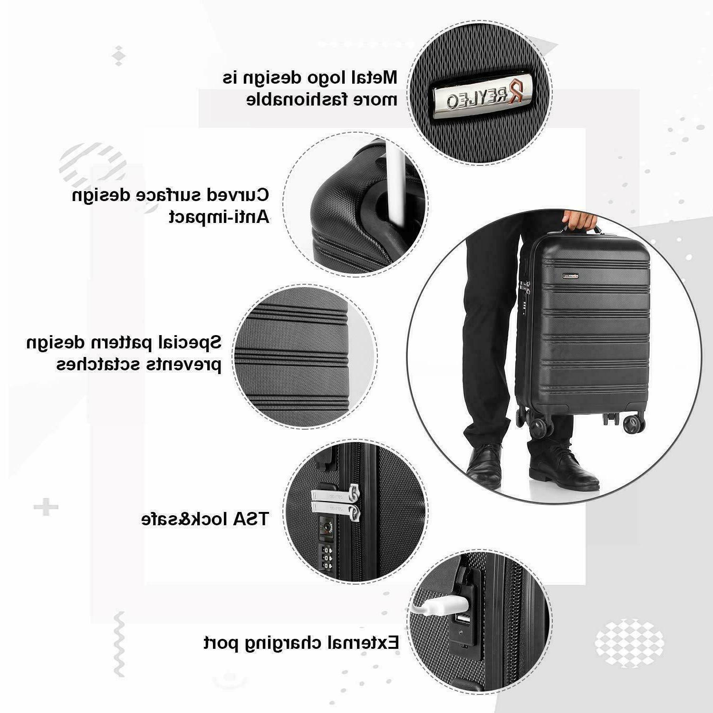 REYLEO 20in Carry on Luggage Travel