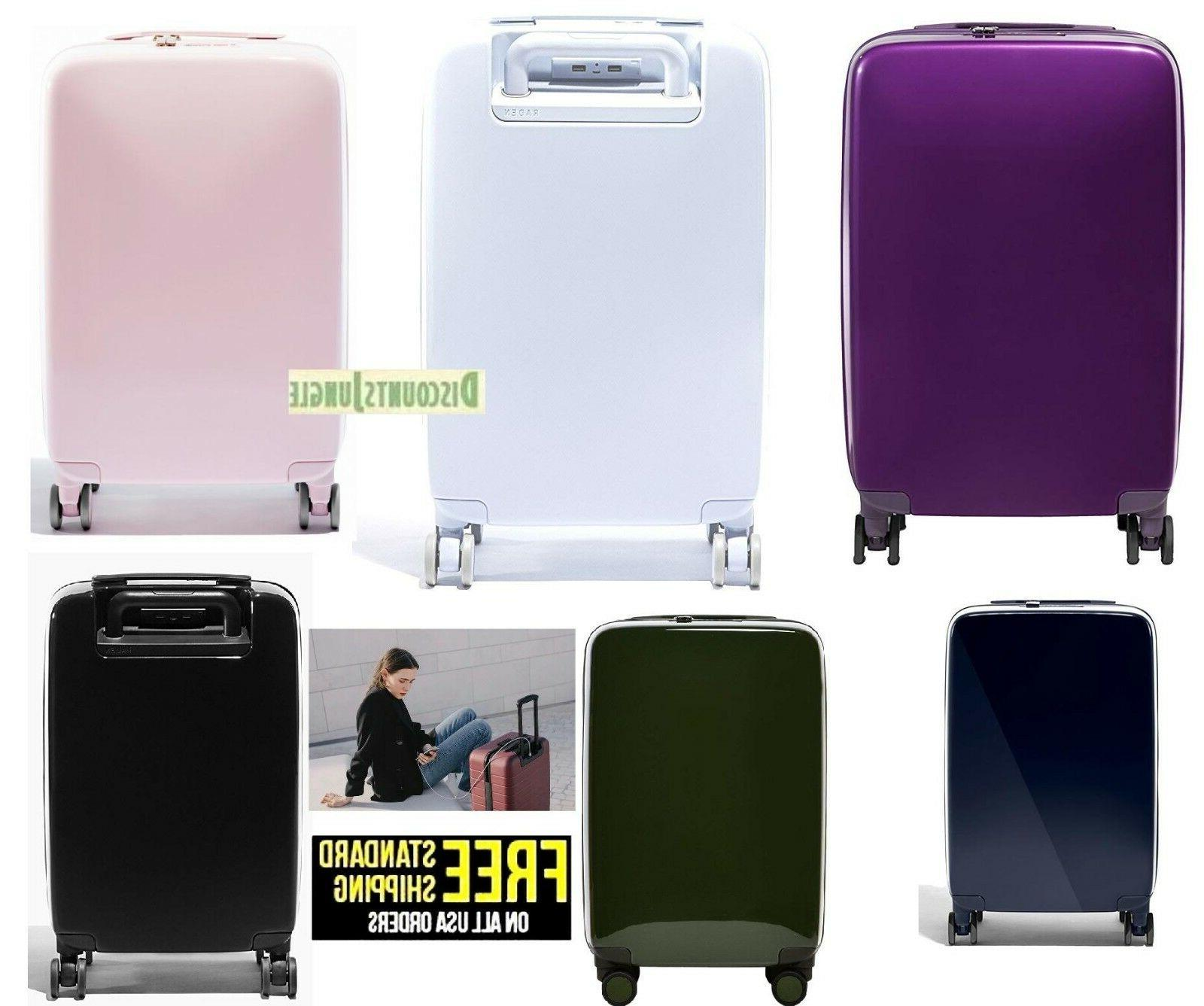usb smart luggage hardside carry on spinner