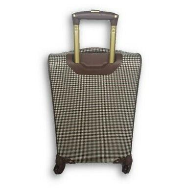 """WOMEN'S 20"""" CARRY-ON EXPANDABLE LUGGAGE BROWN"""