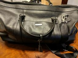 Brooks Brothers Leather Carry-on Luggage with wheels