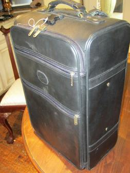 """Leather  Claire Chase Classic Carry-On Luggage 22"""" Rolling S"""