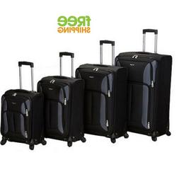 Lightweight Luggage Set 4 Piece Spinner Upright Carry On Cas