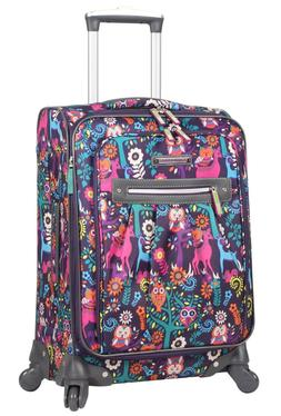Lily Bloom Luggage 20'' Carry On Expandable Design Pattern S