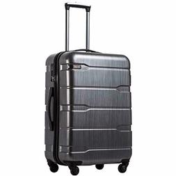 """COOLIFE Luggage 20"""" Carry On Suitcase PC+ABS Spinner Built-i"""