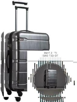 COOLIFE Luggage Expandable Suitcase S, Charcoal.