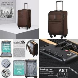 Coolife Luggage Expandable Suitcase Spinner Softshell TSA Lo