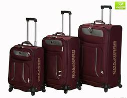 Rockland Luggage Navigator Spinner Polo Equipment 3 Piece Lu