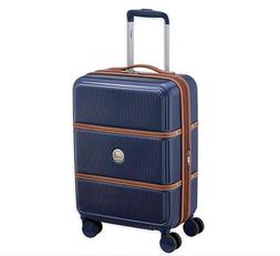Delsey Paris Luggage RENDEZ-VOUS Hard+ 19' Carry on Navy Blu
