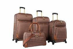 Rosetti Luggage Set 4 Piece Expandable Softside Suitcase Wit