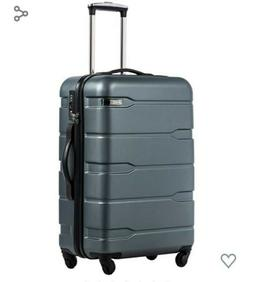 COOLIFE Luggage Suitcase PC+ABS Spinner Built-in TSA Lock 20