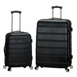 NEW Rockland Luggage Set Melbourne 2-Piece Expandable ABS Sp