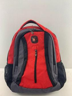 New SwissGear Black, Red, and Grey Multi-Compartment Backpac