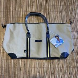 NEW Nautica Voyage Large Travel Duffel Shoulder Bag Khaki Br