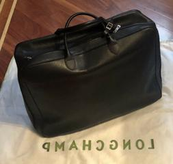nwt le foulonne black leather carry on