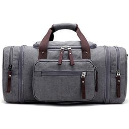 Kenox Oversized Canvas Travel Tote Luggage Weekend Duffel Ba