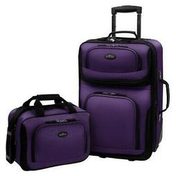 U.S Traveler Rio Two Piece Expandable Carry-on Luggage Set (
