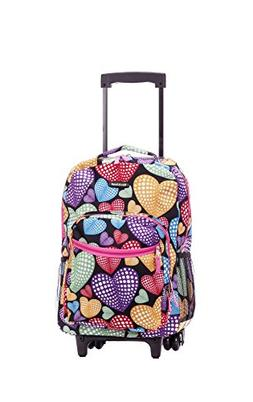 """Rockland 17"""" Rolling Backpack - Newheart NEW"""