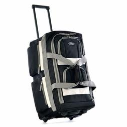 Rolling Duffel Bag 22 Inch Travel Carry On Wheels Tote With