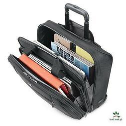 "Rolling Laptop Bag For Women Men 17.3"" Case Carry On Wheeled"