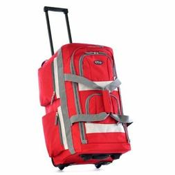 Rolling Wheel Tote Duffle Bag Travel Luggage Suitcase Backpa