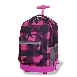 Rolling Wheeled Backpack for School Travel Book bag Luggage