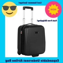 rolling wheeled expandable hardside suitcase carry on
