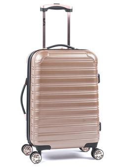 Rose Gold IFLY 20 Inch Hard Sided Fibertech Spinner Carry On