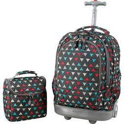 J World New York Setbeamer Rolling Backpack with Lunch