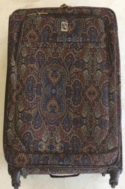 London Fog Soho 29 Inch Expandable Spinner, Brown Paisley