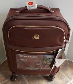"Swiss Gear Geneva 20"" Spinner Carry On Luggage ~ NWT Aged Co"