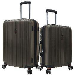 """Tasmania 2pc Brown 21""""/25"""" Polycarbonate Spinner Expandable"""