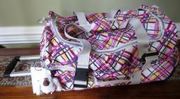 Kipling Teagan Wheeled Carry-on Plaid Duffel Luggage Bag Sui