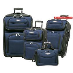 Traveler'S Choice Amsterdam 4-Piece Luggage Set, Navy