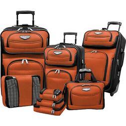 Traveler's Choice Amsterdam 8-piece Luggage Set 4 Colors