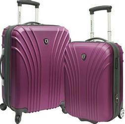 Traveler's Choice Cape Verde Purple 2pc Carry-on Expandable