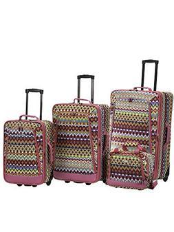 Rockland 4-pc. Tribal Luggage Set
