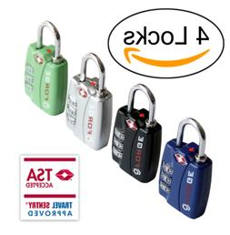 Forge TSA travel luggage Locks 4 Pack Open Alert Indicator,Z