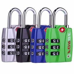 Forge TSA travel luggage Locks 4 Pack Open Alert Indicator