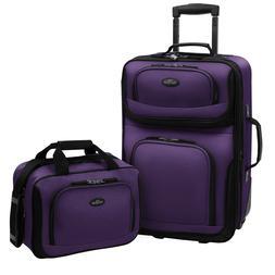 U.S. Traveler Rio 2-Piece Carry-On Luggage Set  $75.00 Free